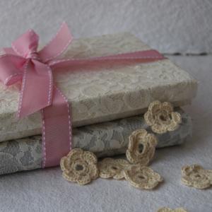 Bespoke lace wedding invitation boxes