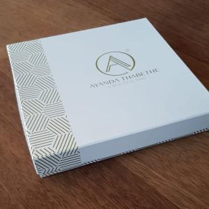 Gold printed box